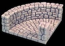 TAB087 - Fieldstone Round Corner Section
