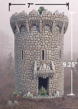 TAB132 - Fieldstone Large Circular Tower