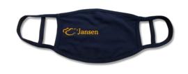 Herbruikbaar mondkapje met eigen logo, telefonisch of via mail te bestellen