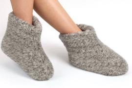 Woolwarmers Wollen Slof Dolly grijs