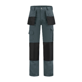 Werkbroek polyester/katoen Oxford grijs