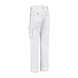 Werkbroek polyester/katoen Oxford wit