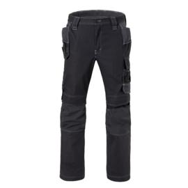 Havep Attitude Werkbroek + kniezakken en loshangende voorzakken, Zwart/Grijs