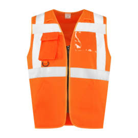 Veiligheidsvest met rits RWS oranje