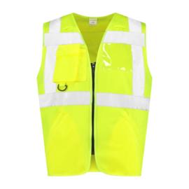 Veiligheidsvest met rits RWS geel