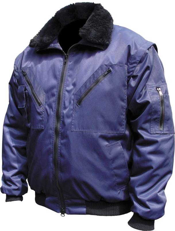 M-wear pilot jacket blauw