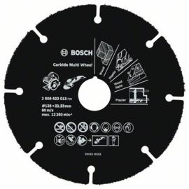 Bosch doorslijpschijf 125 x 22,23 x 1mm Hout / Kunststof  2608623013