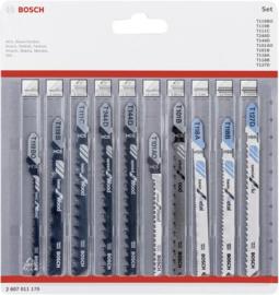Bosch 2607011170 Decoupeerzaagblad-set Wood and Metal, 10-delig