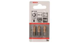 Bosch 2607001595 Pozidrive Bit 25 mm Max Grip - PZ3 (3st)