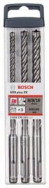 Bosch 3-delige hamerborenset SDS-plus-7X  6, 8, 10 mm 2608576201