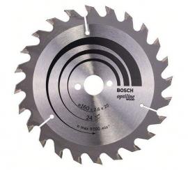 Bosch Cirkelzaagblad 160 x 20 x 24T Optiline Wood 2608640596