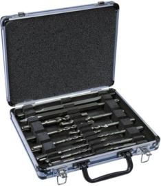 Makita D-42400 13-delige SDS Plus boren en beitel set in aluminium doos.