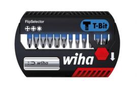 Wiha Bitset FlipSelector T-bit  25 mm Phillips, Pozidriv, TORX 13-delig  41824