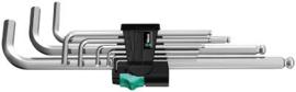 Wera 950 PKL/9 SM N Stifsleutelset, metrisch, verchroomd, 9 -delig - 05022087001