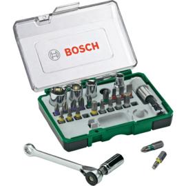 Bosch 2607017160 27-delige Bit- en ratelset met kleurcodering