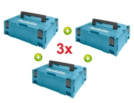 3x Makita M-box nr.2  821550-0 (systainer)  Voordeel SET