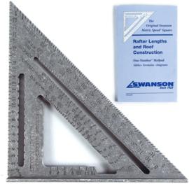 Swanson SW-EU202 Timmermans meetdriehoek 250 mm Metric Speed Square 5-in-1 tool