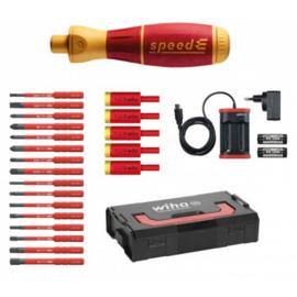 Wiha E-schroevendraaier set 3 speedE® electric 25-delig 41913