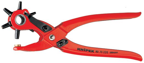 Knipex Revolverponstang tang rood poedergecoat 90 70 220