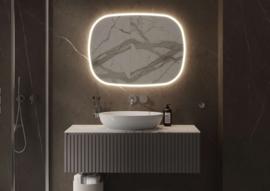 Parijs 800 x 800 mm, zandstraling met indirecte verlichting