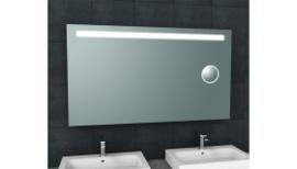 Tigris spiegel met led verlichting + scheerspiegel 1400x800