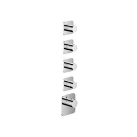 HotbathGal Afbouwdeel - Highflow Thermostaat met 4 stopkranen GLF014EXTCR Chroom