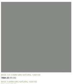 Grespania Basic Gris 100 x 100 cm, 5.6mm dik