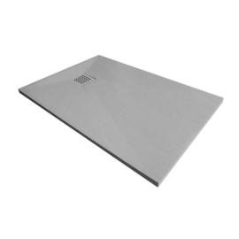 Xenz slate douchevloer 90x90 Mat cement
