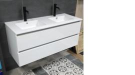 Thebalux Ceramic Line onderkast en blad 120 cm hoogglans wit