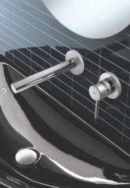Hotbath BUDDY 005  Inbouw wastafelmengkraan met rechte uitloop, Buddy005CR