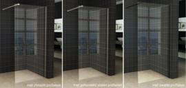 Wiesbaden Slim glasplaat helder 1000x2000 8mm nano i.c.m. profiel op kleu