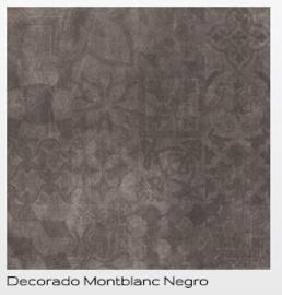 Cristacer Montblanc decorado Negro 60 x 60 aanbieding voor € 29.95 pm2 Prijs per verpakking