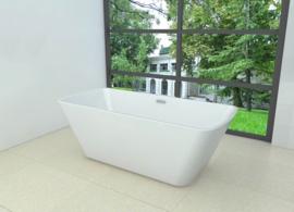 Wiesbaden Larx vrijstaand vierkant acryl ligbad 170 x 78 + waste wit