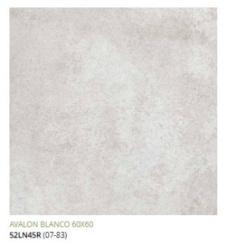 Grespania Avalon Blanco  60 x 60, € 34.50 pm2