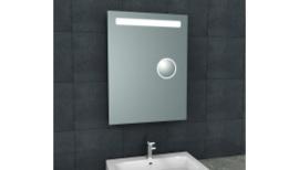 Tigris spiegel met led verlichting + scheerspiegel 600x800