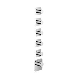 HotbathGal Afbouwdeel - Highflow Thermostaat met 5 stopkranen GLF015EXTCR Chroom