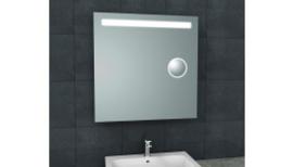 Tigris spiegel met led verlichting + scheerspiegel 800x800