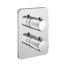 HotbathGal Afbouwdeel - Inbouw thermostaat met 2-weg stop-omstel GL009EXTCR Chroom