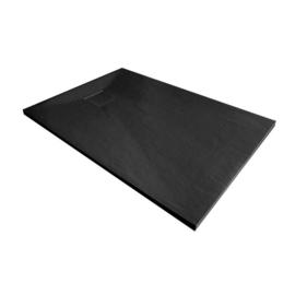 Xenz slate douchevloer 90x90 Mat zwart