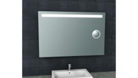 Tigris spiegel met led verlichting + scheerspiegel 1200x800