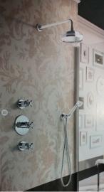 Hotbath IBS6 Complete therm. inbouwset Amice chroom met 2 stopkranen chroom