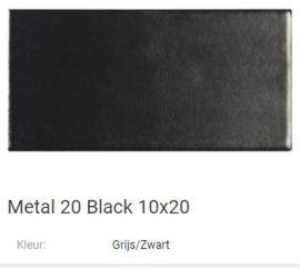 Metal 20 Black 10 x 20 Prijs € 92,= pm2