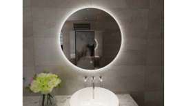 Giro ronde spiegel + Led 800mm