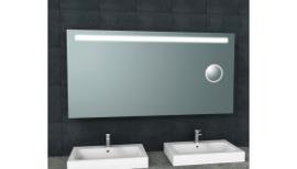 Tigris spiegel met led verlichting + scheerspiegel 1600x800