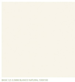 Grespania Basic Blanco 100 x 100 cm, 5.6mm dik