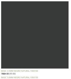 Grespania Basic Negro 100 x 100 cm, 5.6mm dik