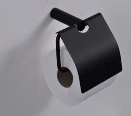 Wiesbaden Ida toiletrolhouder met klep zwart Artikelnummer: 28.5054