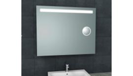 Tigris spiegel met led verlichting + scheerspiegel 1000x800
