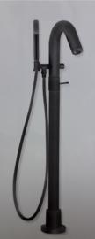 Xenz Duero DU3050.zw Vrijstaande badkraan mat zwart