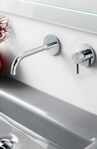 Hotbath LADDY 005J  Inbouw wastafelmengkraan met gebogen uitloop, L005J